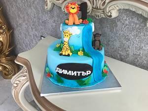 Safari animals cake - Cake by MontiCakes&Catering
