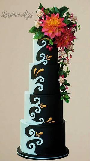 dalhia and fucsia - Cake by Loredana Atzei