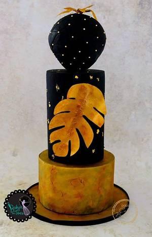 Cakerbuddies metallics collab The Night Sky  - Cake by BakerOnToes