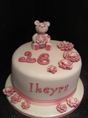 birthday bear sweet 16  - Cake by d and k creative cakes