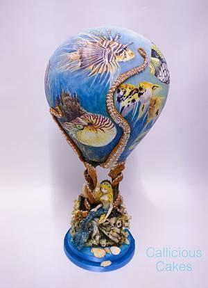 Sea World Hot Air Balloon - Cake by Calli Creations