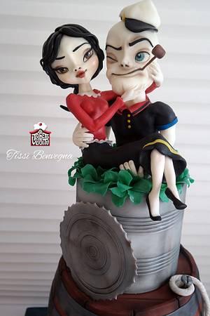 Popeye in love - Cake by Tissì Benvegna