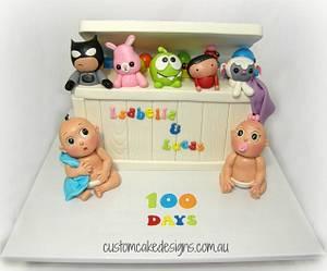 100 Days Celebration Cake - Cake by Custom Cake Designs