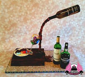 Gravity-defying Wine Tasting Cake - Cake by Cakes ROCK!!!