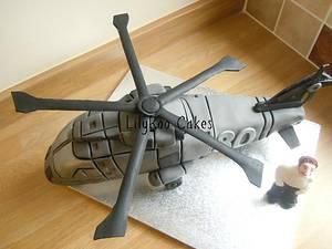 Merlin helicopter cake - Cake by Jo Waterman