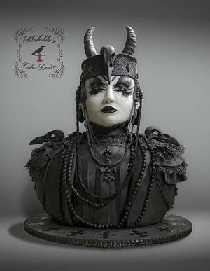 collaboration Sugar Myths and Fantasies Global Edition: Victor, Goth Creature of the night - Cake by Mafalda's cake desire