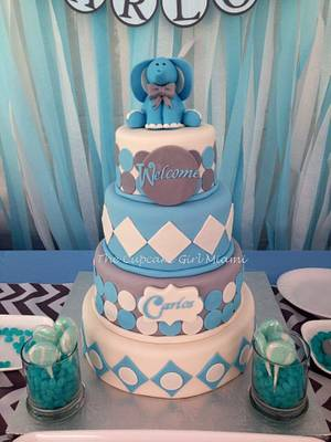 Baby Shower Elephant theme - Cake by Lilly