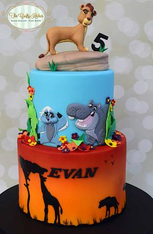 The Lion Guard - Cake by The Crafty Kitchen - Sarah Garland