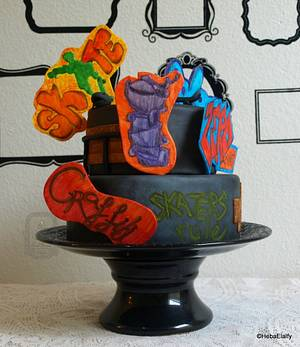 Sports Cake For Peace collaboration-Skateboarding - Cake by Sweet Dreams by Heba