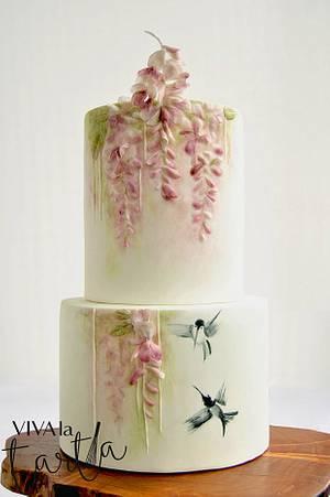 Wisteria Maiden Cake - Cake by Viva la Tarta