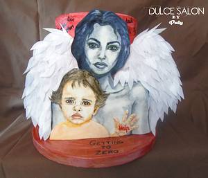 UNSA Team Red Collaboration- Angel Mother - Cake by Dulce Salon by Paty