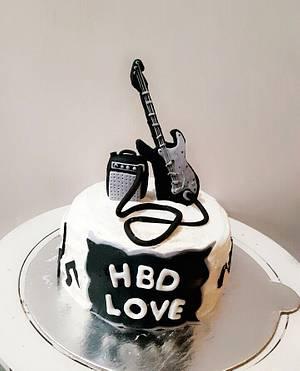 Electrical guitar cake - Cake by Juhi goyal