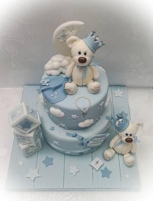 Christening bears - Cake by Samantha's Cake Design