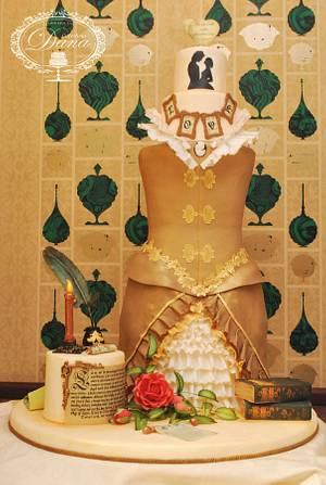 Shakespeare in love wedding cake - Cake by Cofetaria Dana