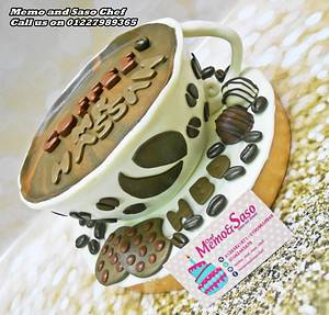 coffee cup cake with cookies ☕ - Cake by Mero Wageeh