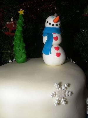 Snowman  - Cake by bolosdocesecompotas