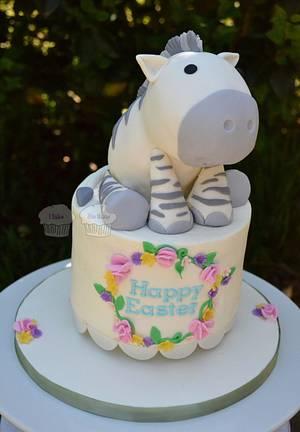 Baby Zebra - Cake by Susan