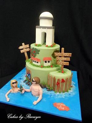 Amalfi Coast Engagement Cake - Cake by Raewyn Read Cake Design