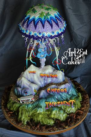 String Cheese Incident Jellyfish Cake - Cake by Heather -Art2Eat Cakes- Sherman