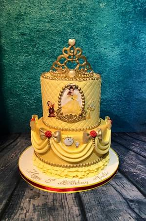 Be our guest - beauty and the beast cake - Cake by Maria-Louise Cakes