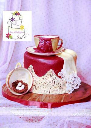 A Little Red Dress High Tea - Cake by Sonal Soni