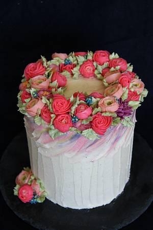 Buttercream flowers - Cake by Anastasia Kaliazin