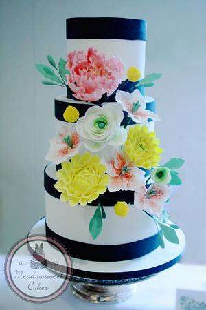 Floral Burst!  - Cake by Meadowsweet Cakes