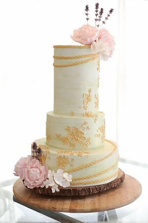 Romantic Green and Gold - Cake by La Cupella Cake Boutique - Ella Yovero