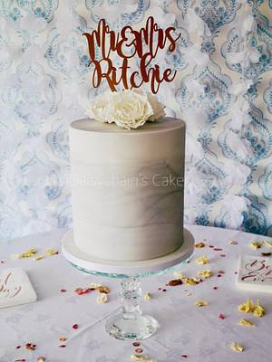 Marble effect wedding cake - Cake by Daisychain's Cakes