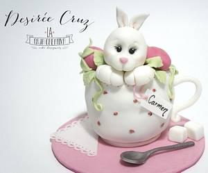 Cute Rabbit - Cake by La Caja Creativa
