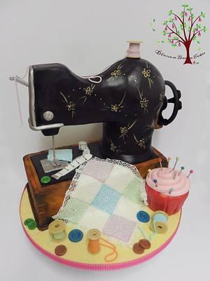 Sewing Machine - Cake by Blossom Dream Cakes - Angela Morris