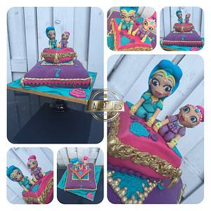 Shimmer and shine pillow cake  - Cake by Taartjes Toko