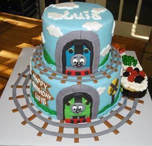 Thomas the Train and Percy Birthday Cake - Cake by DaniellesSweetSide