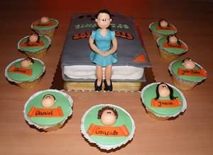 Teacher and students - Cake by bolosdocesecompotas