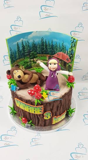 Masha and the bear cake - Cake by Zuzi's cake