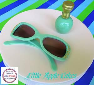 Fondant Sunglasses and Nail Polish  - Cake by Little Apple Cakes