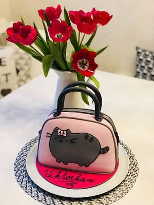 "Handbag ""Pusheen"" cake - Cake by dortikyodjanicky"