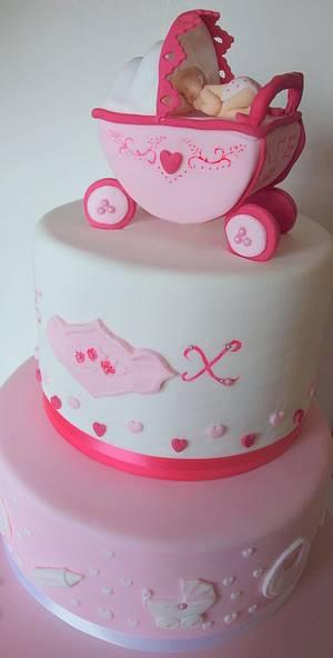 Wedding and Baptism - Cake by sugardiver62