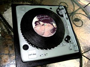 Turntable cake - Cake by Random Acts of Sweetness