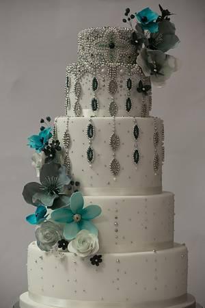 Beaded Asian opulence - Cake by Happyhills Cakes