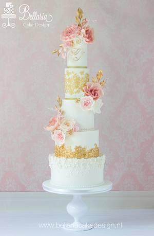 Romantic wedding cake - Cake by Bellaria Cake Design