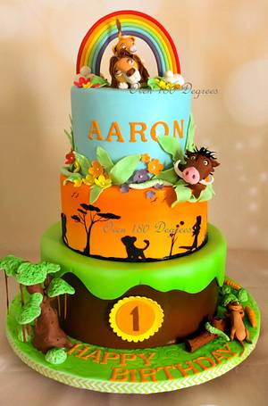 Lion King theme cake - Cake by Oven 180 Degrees