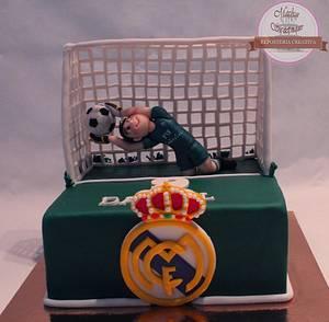 Tarta fondant de portero de futbol.- Fondant cake soccer goalkeeper - Cake by Machus sweetmeats