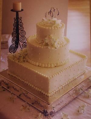 3-tier buttercream wedding cake - Cake by Nancys Fancys Cakes & Catering (Nancy Goolsby)