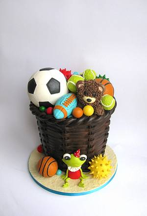 Toy storage cake....mostly balls  - Cake by Delice