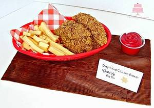 State Fair Of Texas-Fried Chicken Basket - Cake by YB Cakes and More