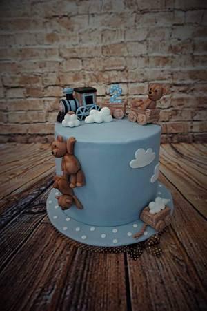 Cake with teddies - Cake by Eliska