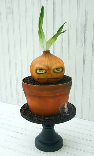 One Grumpy Onion - Cake by Tonya Alvey - MadHouse Bakes