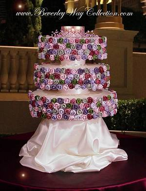 Exquisite Evening Roses - Cake by The Beverley Way Collection, Beverley Way Designs USA