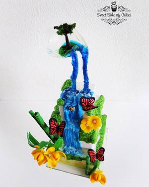Water Cycle for Acts of Green - UNSA 2016 Collaboration  - Cake by Sweet Side of Cakes by Khamphet